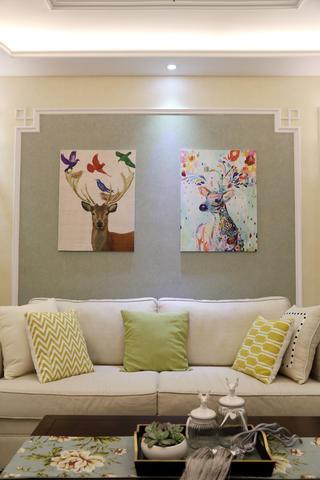 美式三居装修装饰画图片