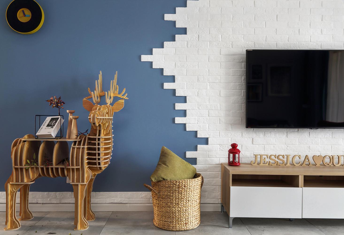 二居室北欧之家电视背景墙设计