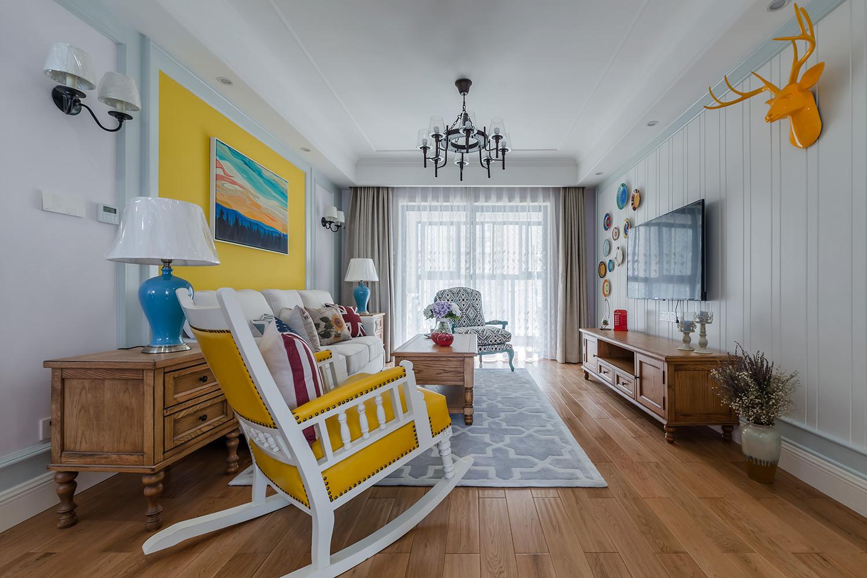 美式二居装修客厅效果图
