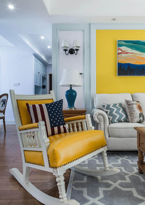 美式二居装修沙发椅图片