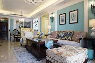 美式四居装修沙发图片
