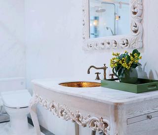 美式别墅装修洗手台图片