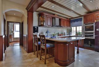 古典美式复式装修吧台设计