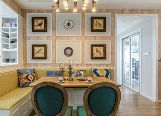 美式三居之家餐厅背景墙图片