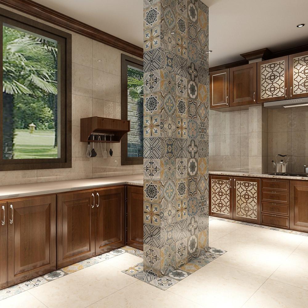 大户型中式风格家厨房效果图