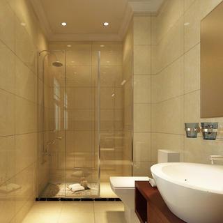 大户型新中式装修卫生间设计图