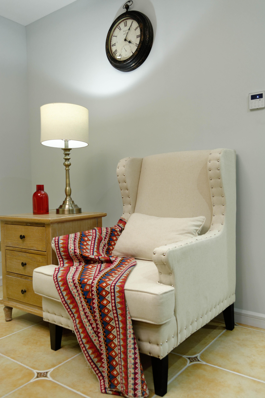 105平美式风格装修单人沙发图片
