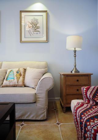 105平美式风格装修沙发背景墙图片