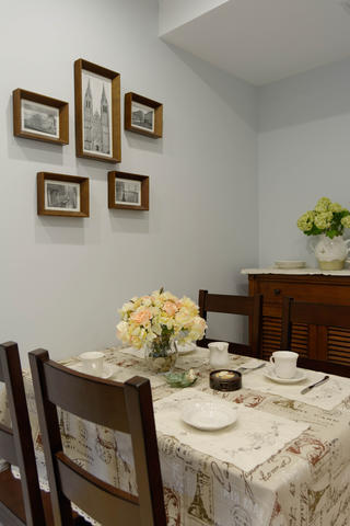 105平美式风格装修餐厅背景墙图片