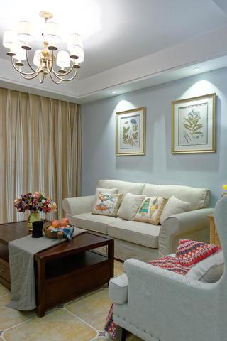 105平美式风格装修沙发图片