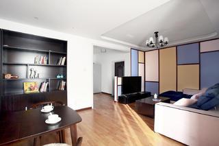 混搭二居室装修客厅吊顶图片