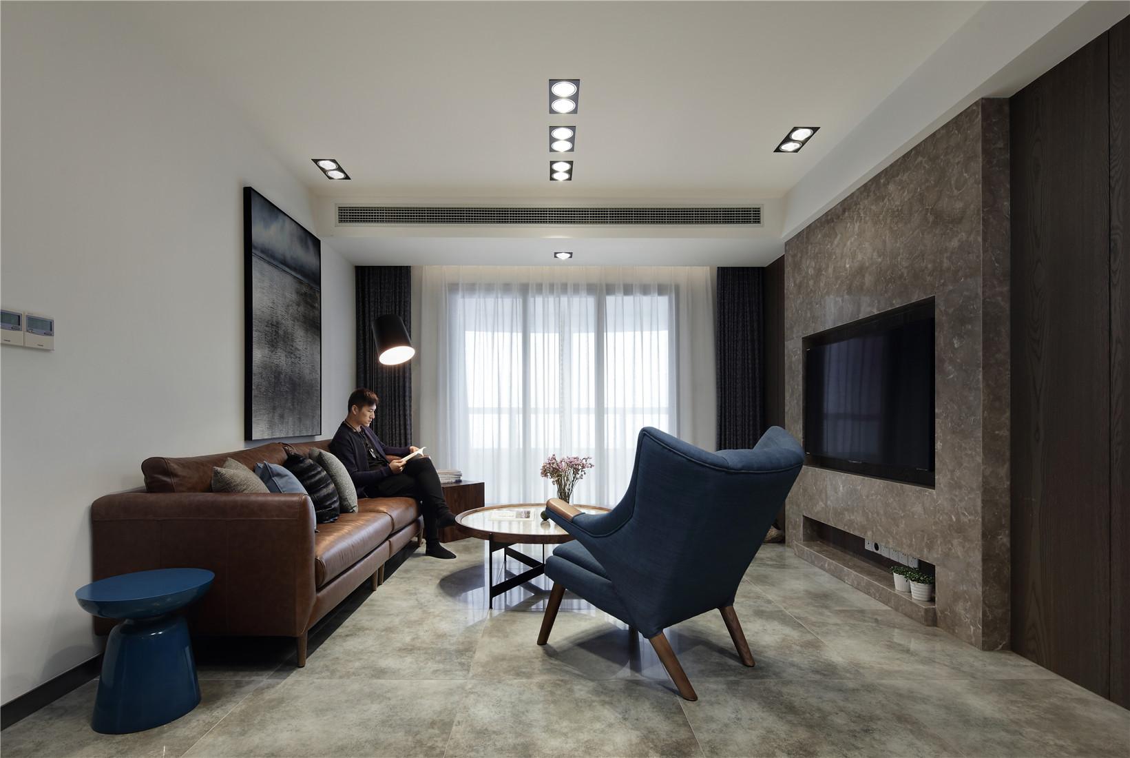 168平简约装修客厅设计图