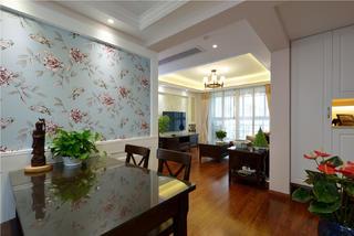 二居室美式之家餐厅背景墙图片