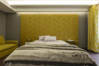 现代别墅装修床头背景墙设计