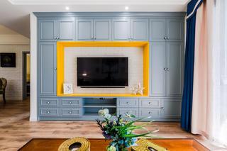 90平美式二居电视背景墙图片