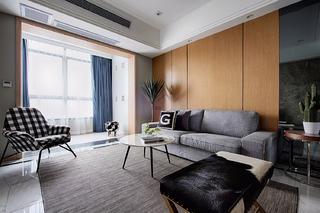 126平混搭三居室装修沙发背景墙图片