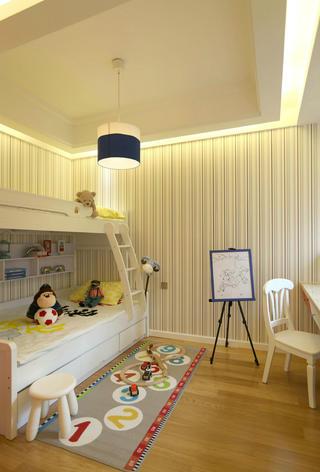 现代二居之家儿童房墙面壁纸设计