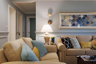 150平美式风格家沙发背景墙图片