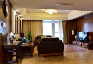 160平米中式风格装修客厅设计图