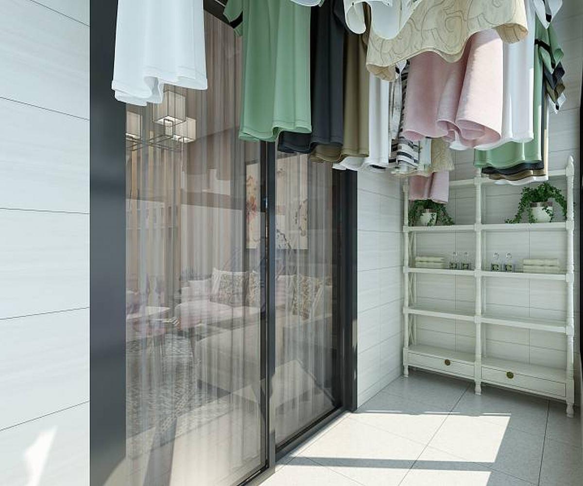 100㎡三居室设计阳台图片