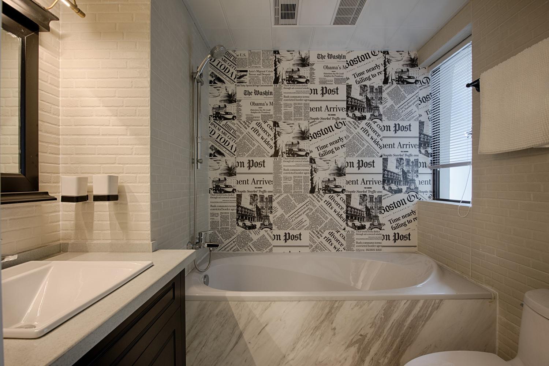 现代美式三居装修浴缸图片