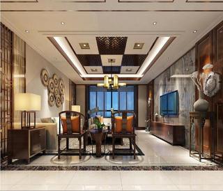 新中式四居装修客厅设计图