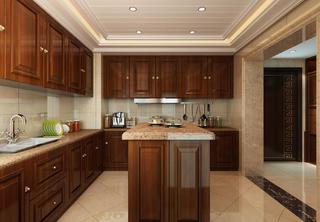 新中式四居装修厨房设计图