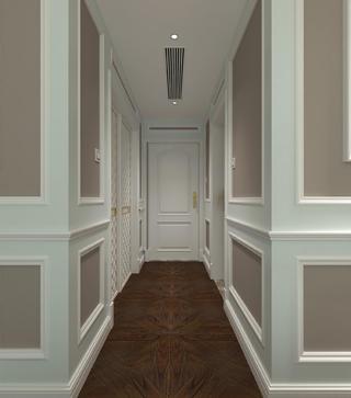 美式风格大户型装修卧室过道