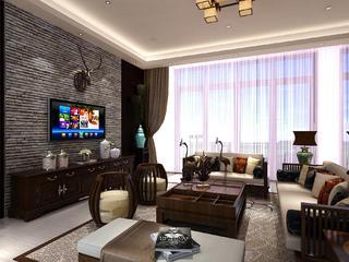 新中式别墅装修客厅设计图