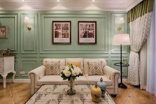 三居室美式风格家沙发图片