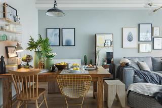 二居室北欧风格家餐厅布置图