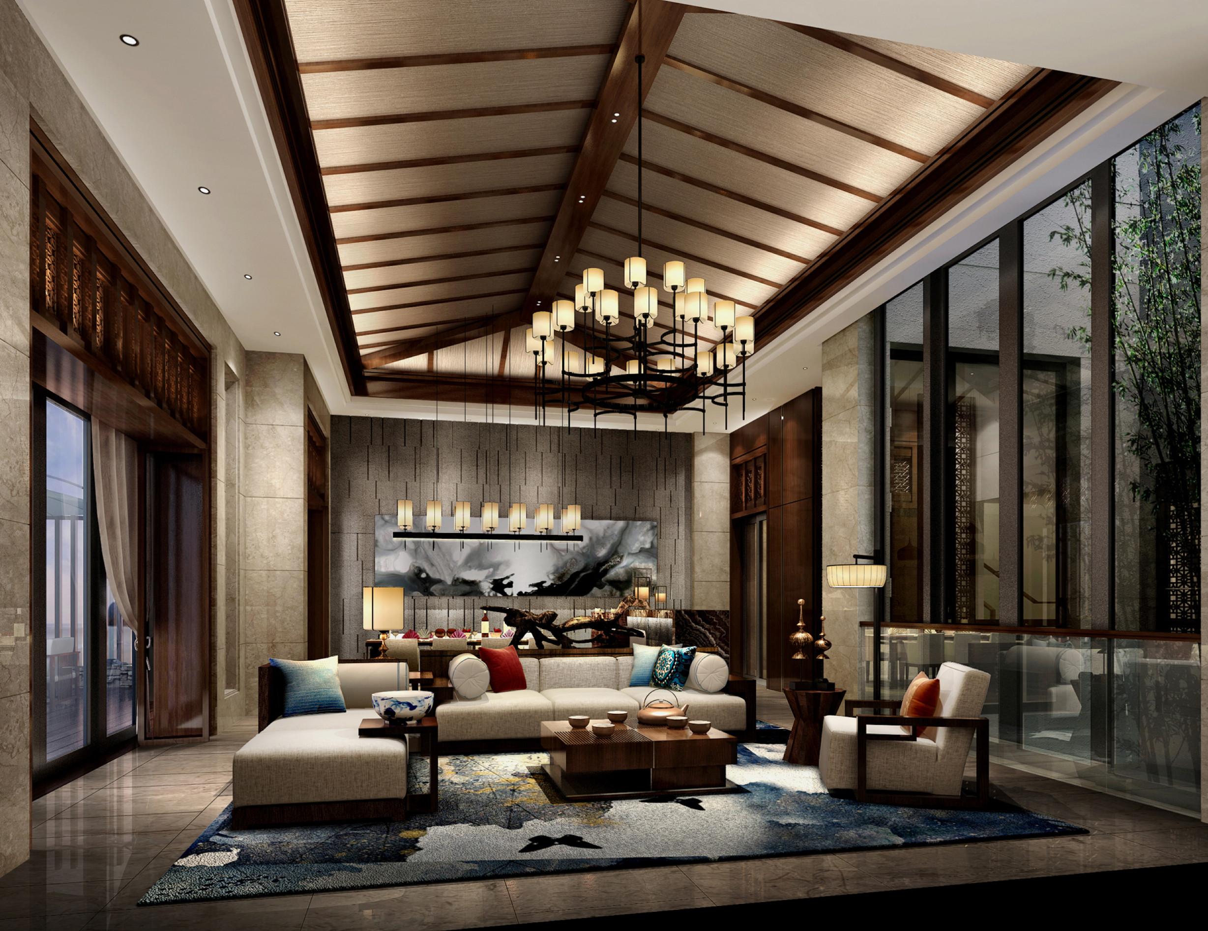 东南亚风格别墅装修客厅效果图