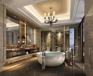 東南亞風格別墅裝修衛生間設計圖