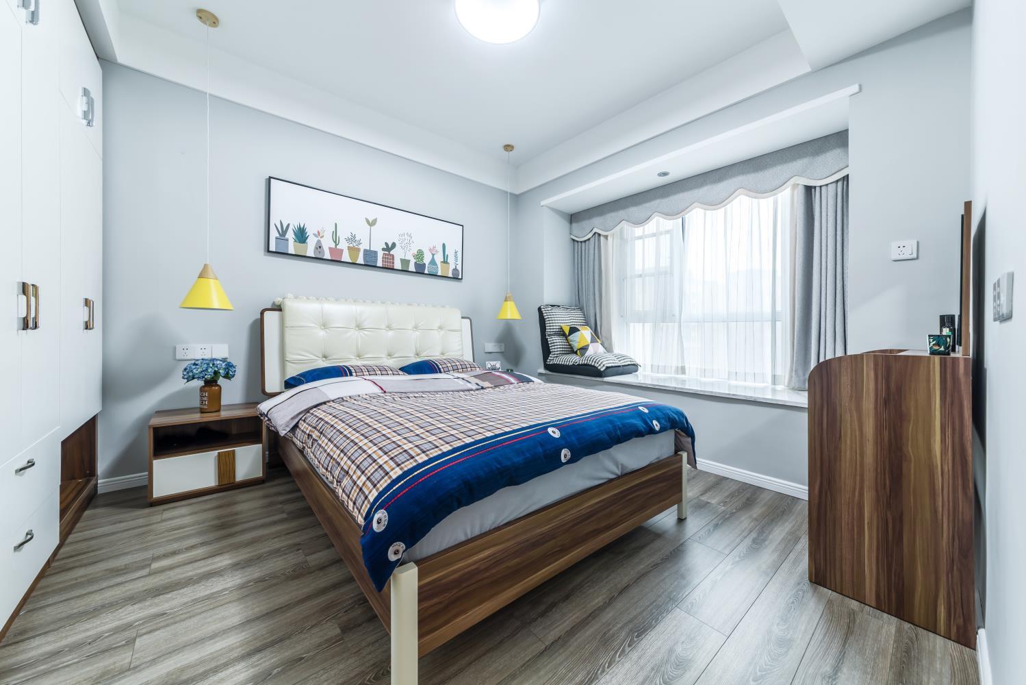 北欧二居装修卧室效果图
