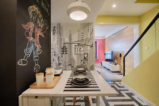 混搭二居室之家餐厅背景墙图片