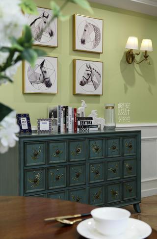 简美复式装修玄关柜图片