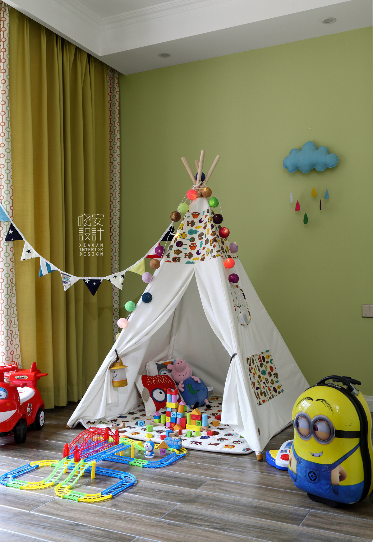 简美复式装修儿童游乐区
