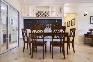美式三居装修餐厅效果图