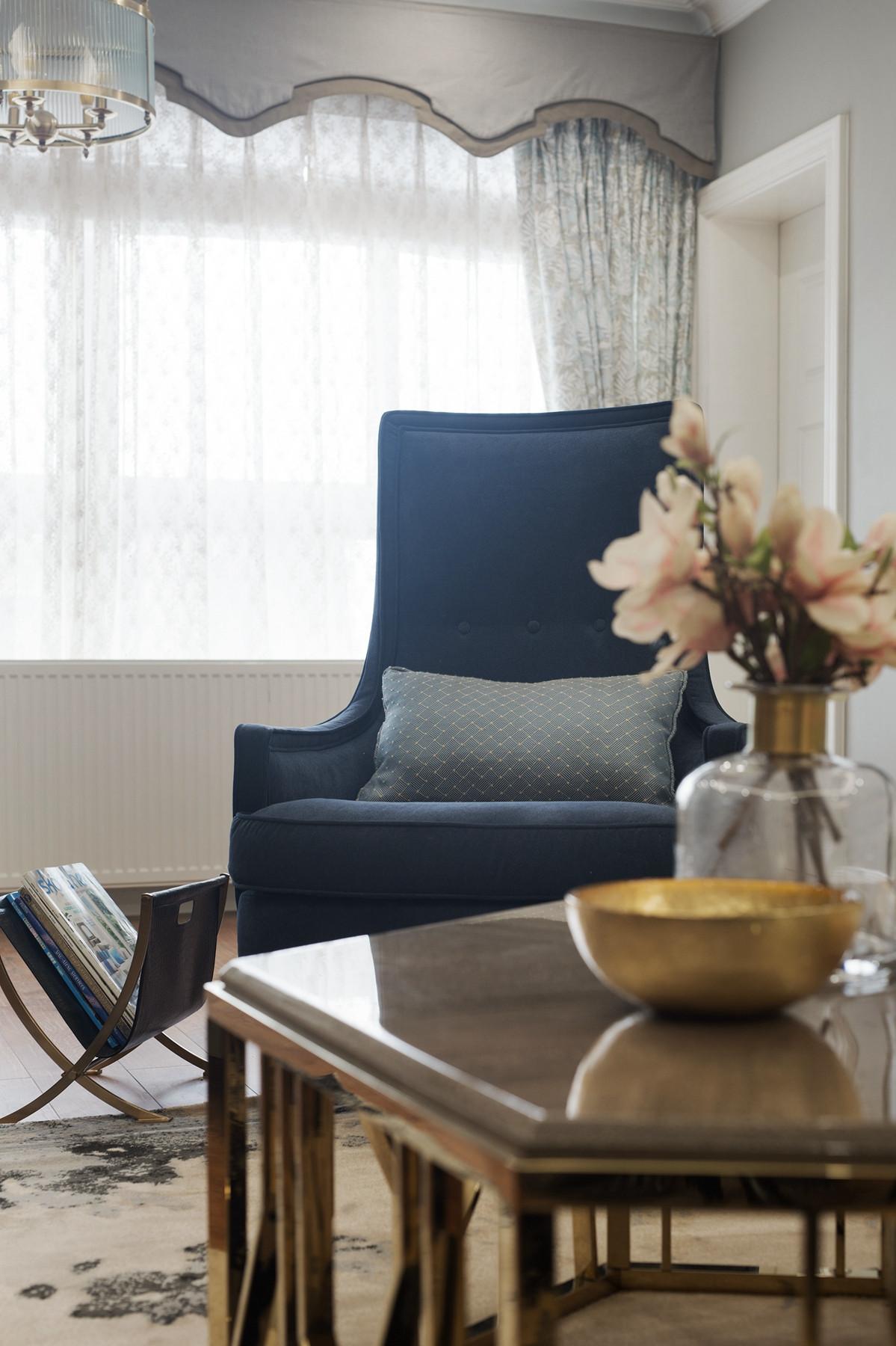 180㎡美式装修单人沙发椅图片