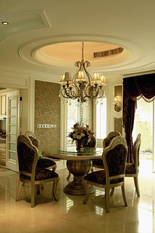 欧式别墅装修餐厅设计图