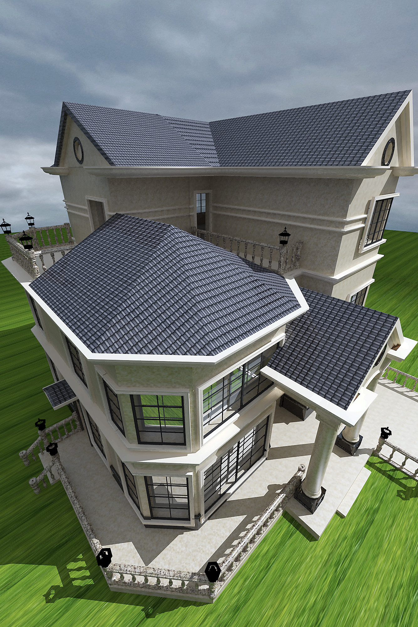 现代欧式别墅装修房顶造型设计