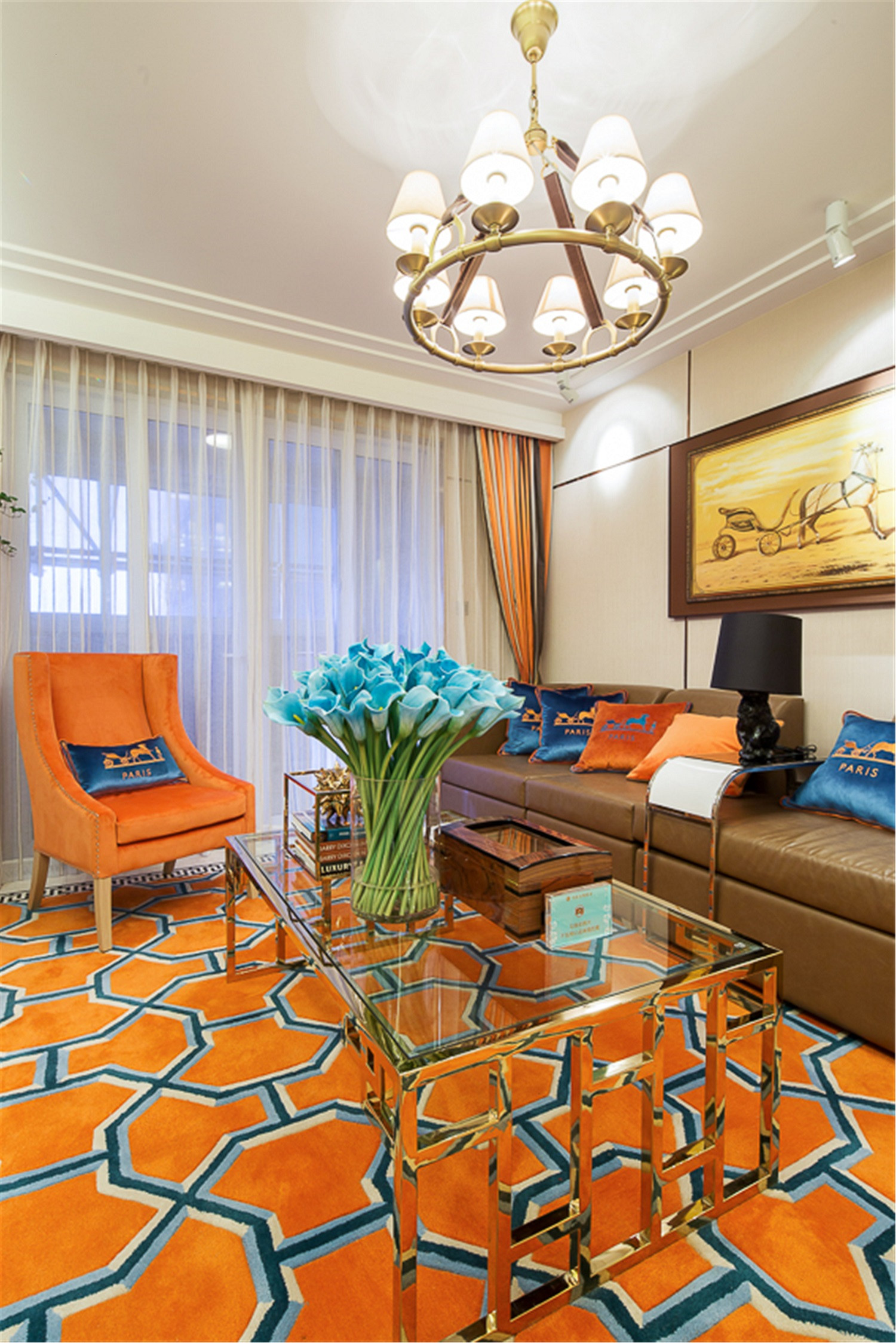 现代风格三居客厅设计图