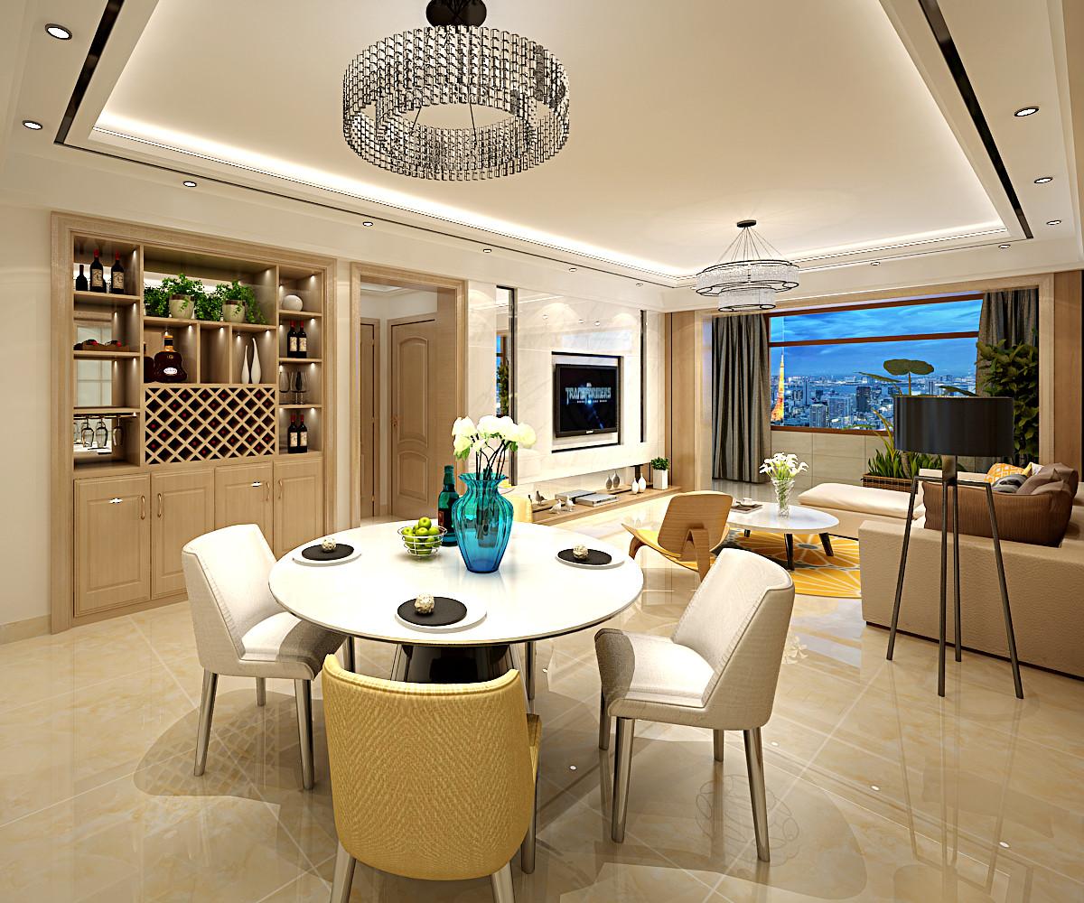 140平装修客餐厅设计图