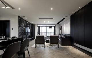 黑白灰三居設計客廳效果圖