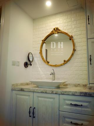 130平美式风格装修洗手台图片