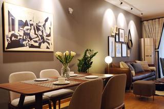 100平北欧之家餐厅背景墙图片