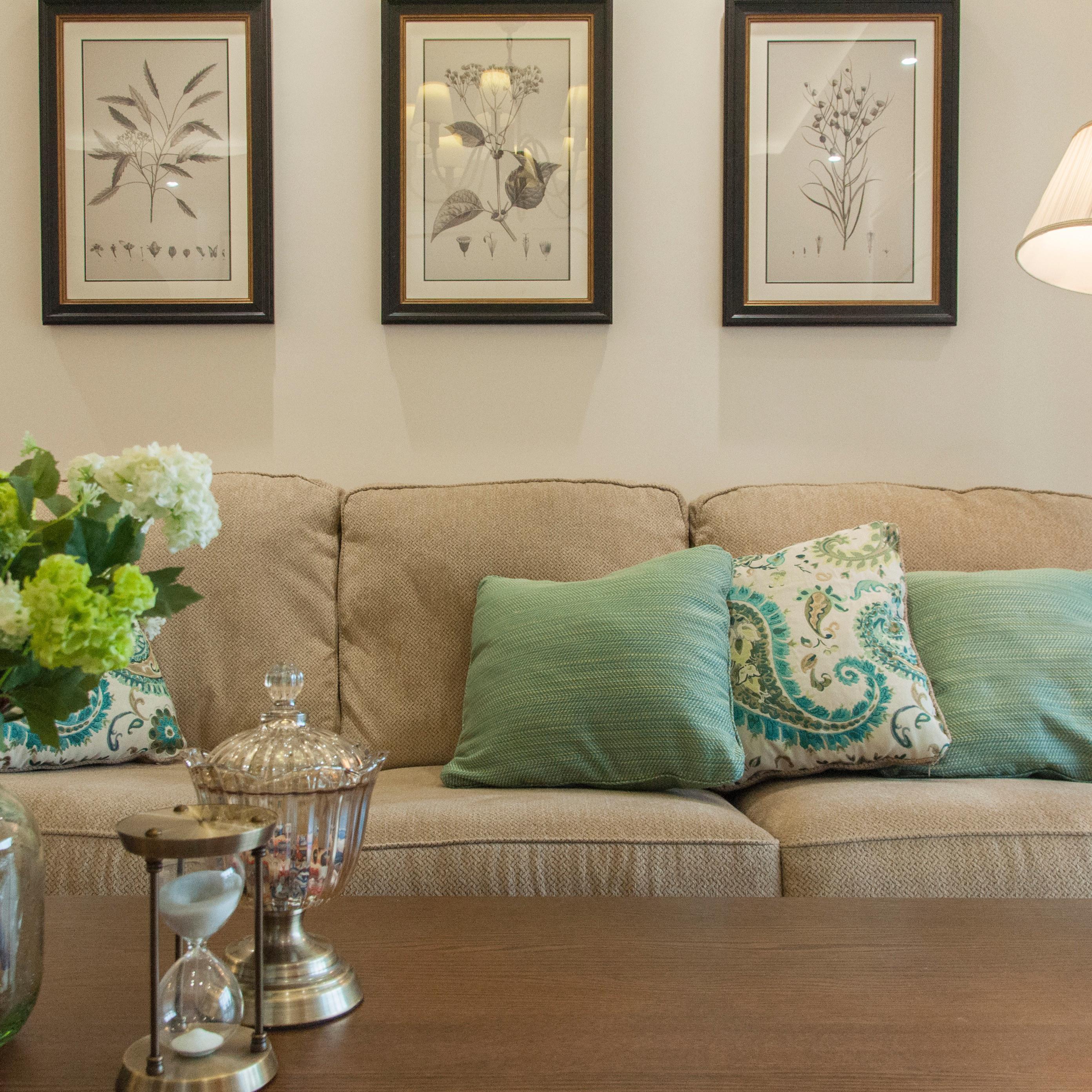 美式二居装修效果图 朴素温馨