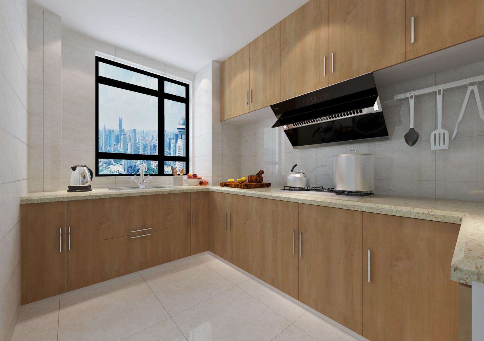 130平北欧风装修厨房设计图