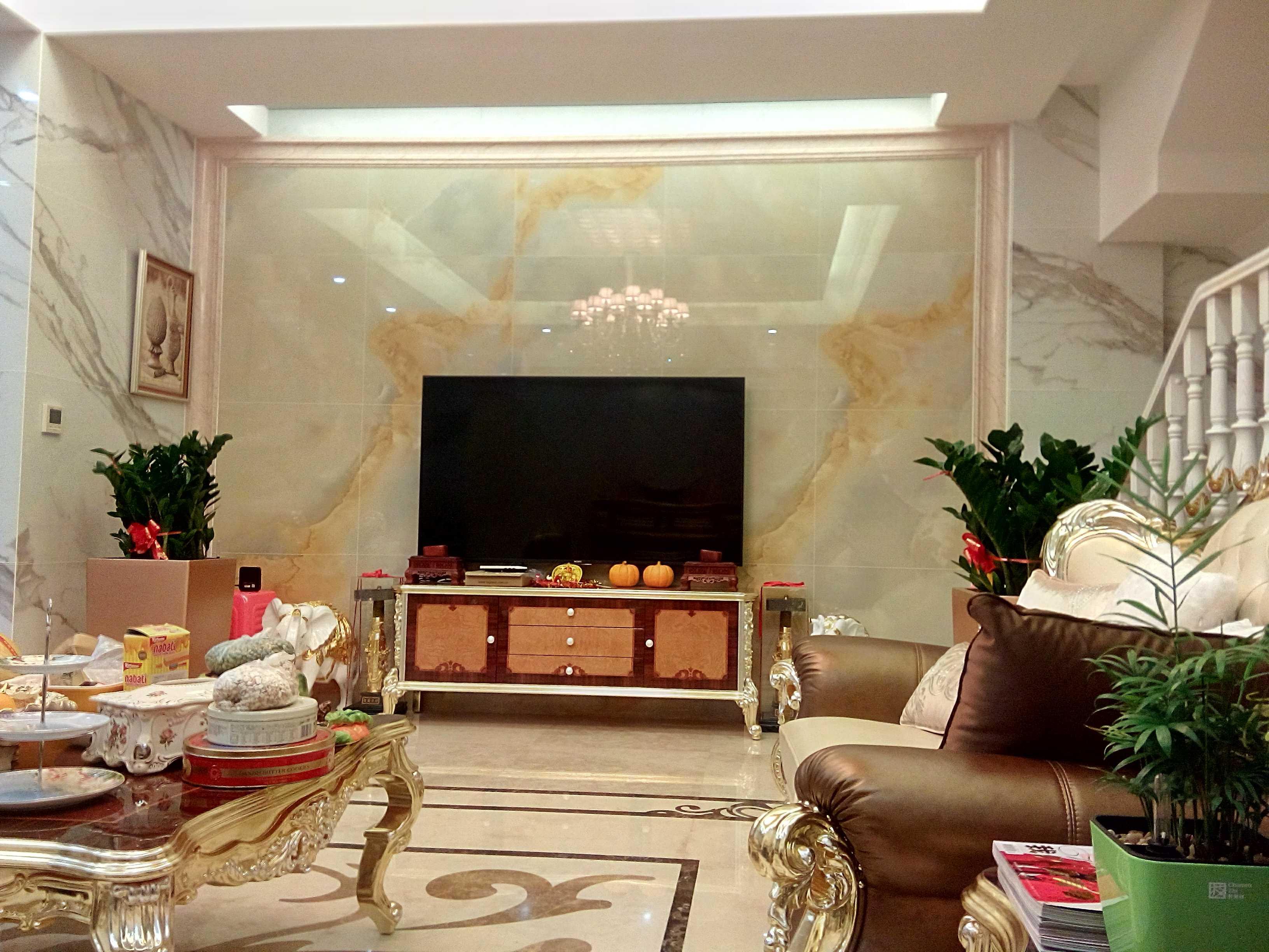 欧式风格别墅装修电视背景墙图片