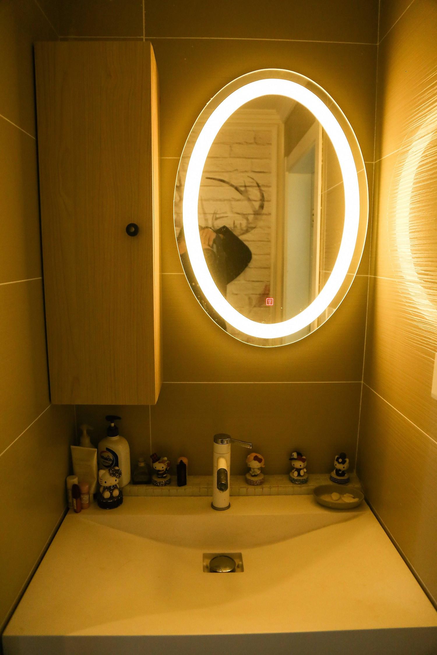北欧温馨二居装修洗手台图片